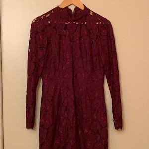Betsey Johnson burgundy lace dress, sz.6